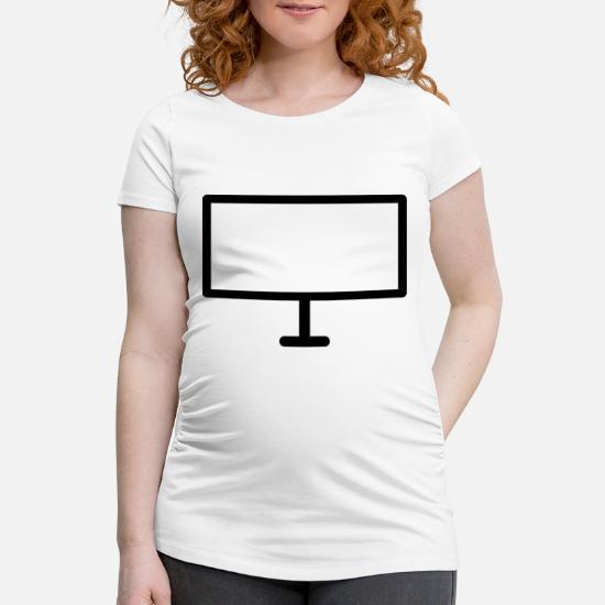 Pc skjerm bred gjennomsiktig skjerm Gravid T skjorte