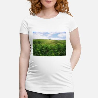 Region Weinberge in der Region Bordeaux - Schwangerschafts-T-Shirt