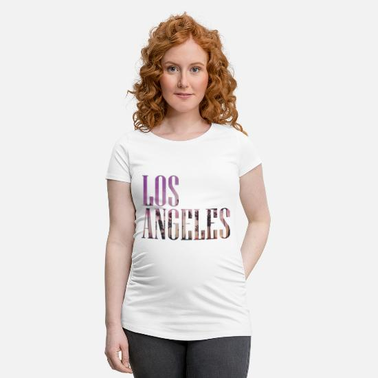 Los Angeles T-shirts - Los Angeles - T-shirt de grossesse blanc