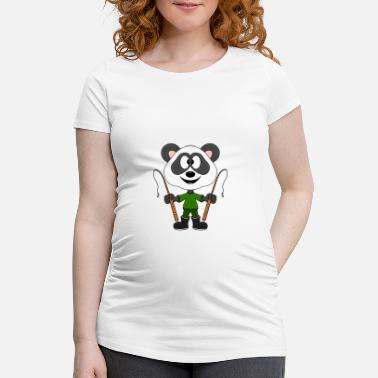 Style Funny panda - bear - angler - child - baby - fun - Maternity T-Shirt