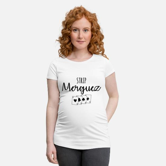 Camping T-shirts - Strip merguez - T-shirt de grossesse blanc