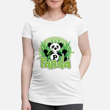 Bamboo Panda Bear - Women's Pregnancy T-Shirt
