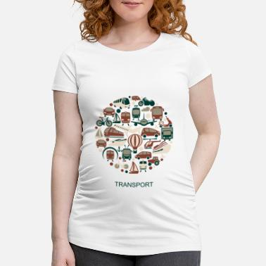 Transport transport - T-shirt de grossesse