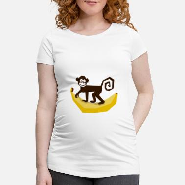 Affeto Monkey Banana Zoo Animal Nature Wilderness Gave Sjov - Vente-T-shirt