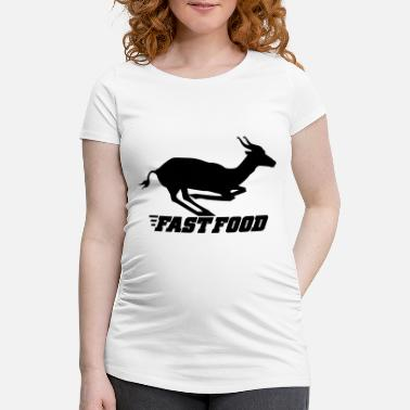 Fast Food fast food - T-shirt de grossesse