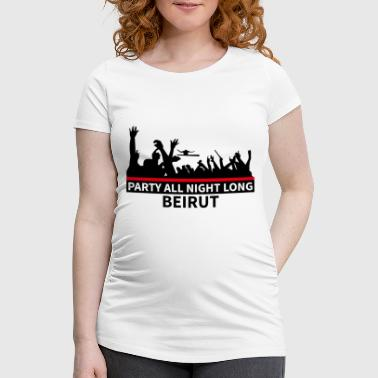 Party All Night Long Beirut - Women's Pregnancy T-Shirt