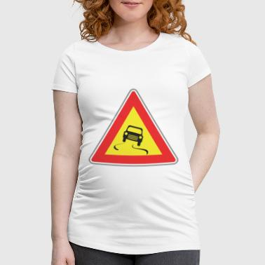 Road Sign dangereous way - Women's Pregnancy T-Shirt
