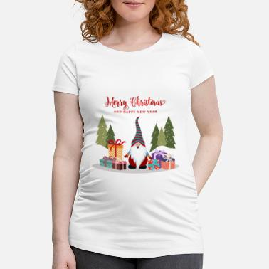 Gnome Christmas Christmas gnome vector - Women's Pregnancy T-Shirt