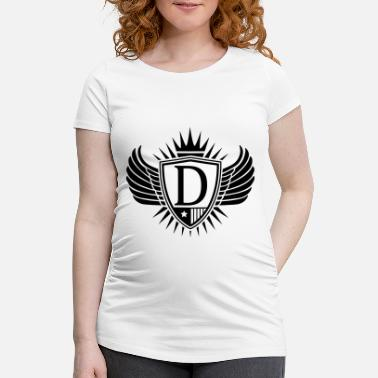 Alphabet shield_letter_d_f1 - Maternity T-Shirt