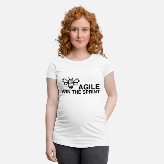 Sprinting T-Shirts - BE AGILE WIN THE SPRINT - Maternity T-Shirt white