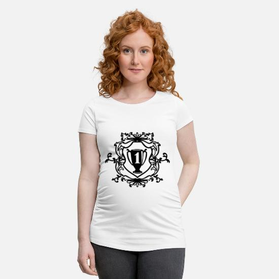 Mummy T-Shirts - number one - Maternity T-Shirt white