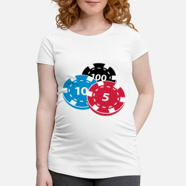 Pokerchips Pokerchips - Schwangerschafts-T-Shirt