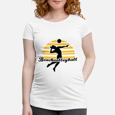 Beachvolleyball Beachvolleyball - Zwangerschaps T-shirt