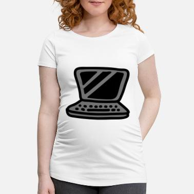 Laptop Laptop - Maternity T-Shirt