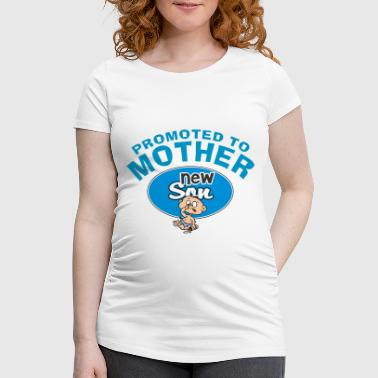 Promoted To Mutter Baby Boy (CUSTOMIZE ADD DATE) - Frauen Schwangerschafts-T-Shirt