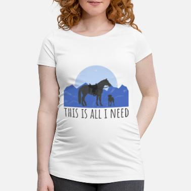 Western Horse Dog and horse - Western rider - Maternity T-Shirt