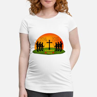 Ww1 Remembrance Day - Women's Pregnancy T-Shirt