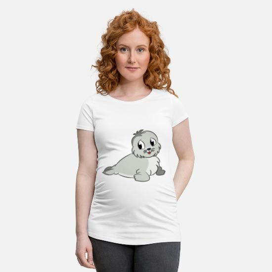 Gift Idea T-Shirts - robe - Maternity T-Shirt white
