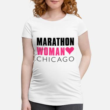 Chicago marathon_woman_chicago - Schwangerschafts-T-Shirt