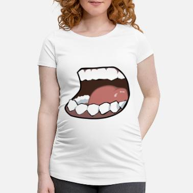 Mouth Hunger, mouth, mouth - Maternity T-Shirt