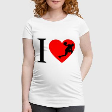 I love basketball, basketball player - Women's Pregnancy T-Shirt