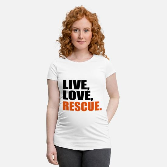 Fire Fighter T-Shirts - rescue - Maternity T-Shirt white
