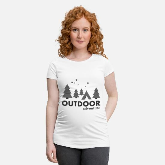 Nature T-shirts - Outdoor Adventure Camp - T-shirt de grossesse blanc