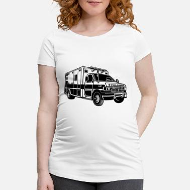 Ambulance Ambulance / ambulance 01_black - Maternity T-Shirt