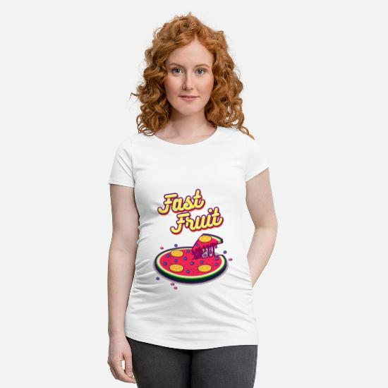 Manger T-shirts - fast fruid - T-shirt de grossesse blanc