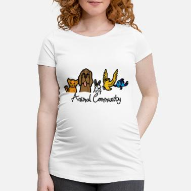 Community Animal Community Forum Animaux Pet Shop Text - T-shirt de grossesse