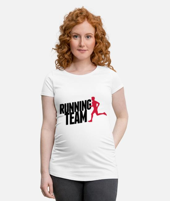Speed T-Shirts - Running Team - Maternity T-Shirt white