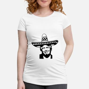 El Salvador Anti Trump Mexico Sombrero Mustache USA Gift - Women's Pregnancy T-Shirt