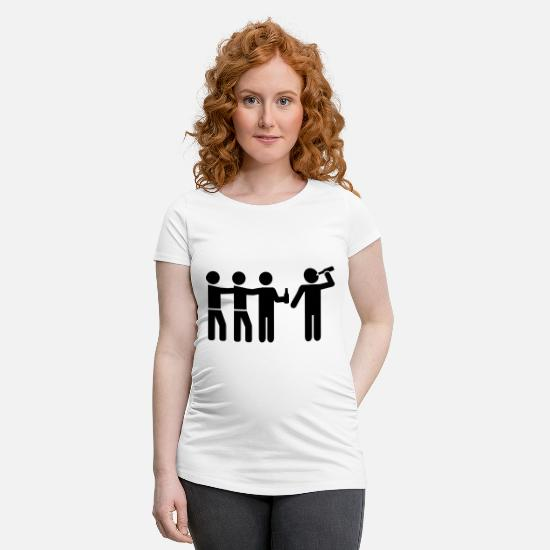 Party T-Shirts - Alcohol - Maternity T-Shirt white