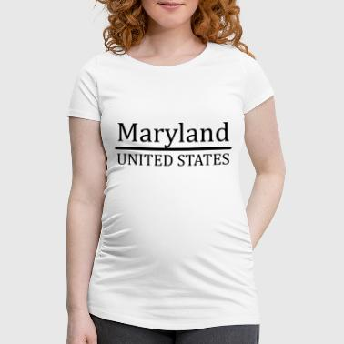 Maryland US - Women's Pregnancy T-Shirt