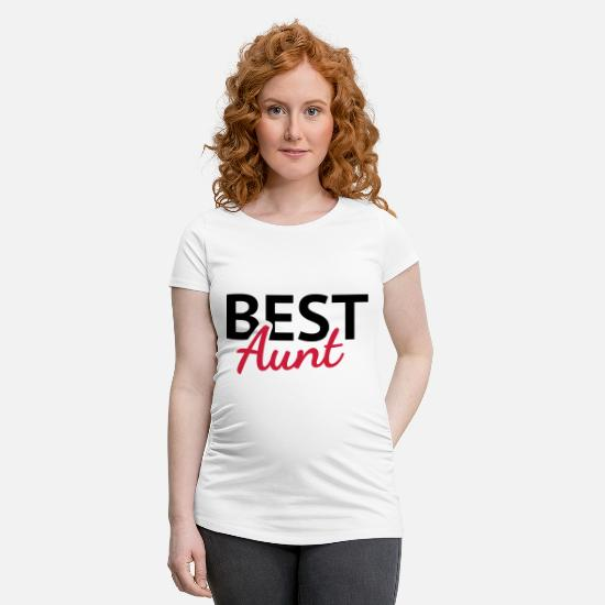 Quote T-Shirts - Best Aunt - Maternity T-Shirt white