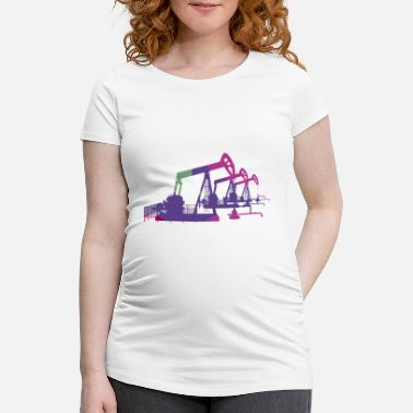 Oil Oil pumps, oil production, oil production, oil - Maternity T-Shirt
