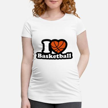 I Love Basketball I love basketball - Maternity T-Shirt