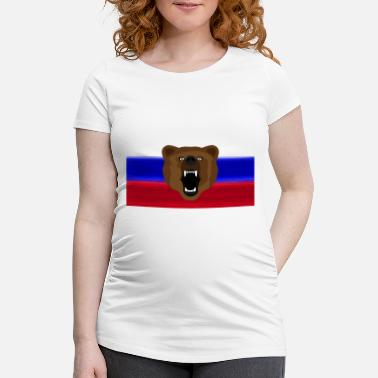 Rossia Russian Bear / Russia / Россия, Rossia, flag - Women's Pregnancy T-Shirt