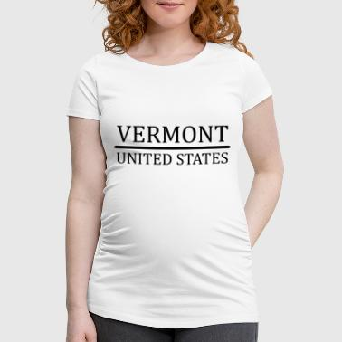 Vermont US - Women's Pregnancy T-Shirt