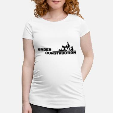 Under Construction Workout - Motivational Under Construction Vector - Vrouwen zwangerschap-T-shirt