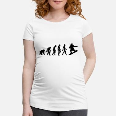 Darwin The Evolution of Snowboarding - Maternity T-Shirt