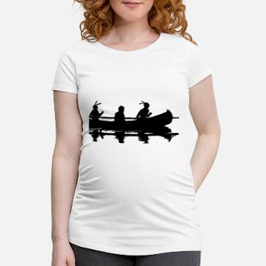 American Indian Indians in the boat - Maternity T-Shirt
