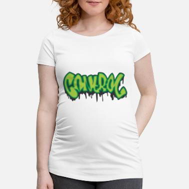 Graffiti Design control graffiti - Women's Pregnancy T-Shirt