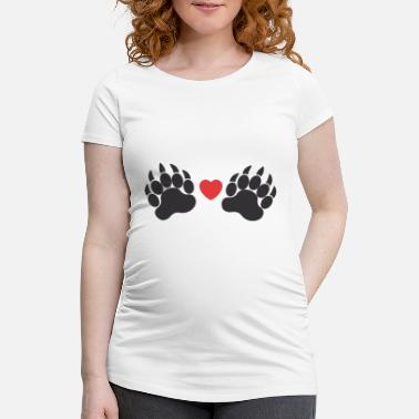 Paw Paws paws - Maternity T-Shirt