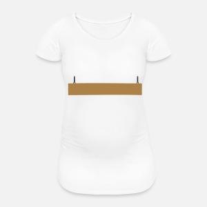 2c1447b7e016b panneau en bois bicolor suspendus spécial blanc T-shirt premium ...