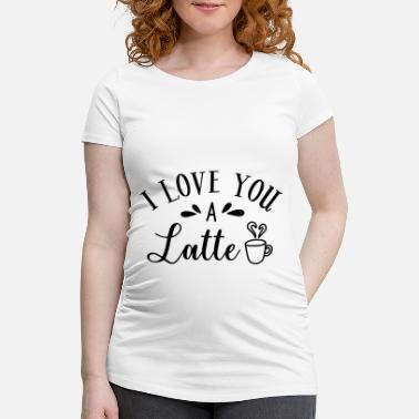Coffee Latte Coffee latte caffeine coffee cup gift - Maternity T-Shirt