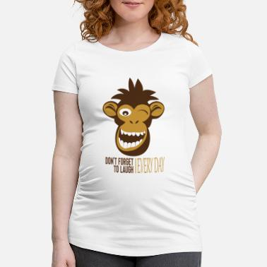 Darwin Funny monkey - don't forget to smile every day - Maternity T-Shirt