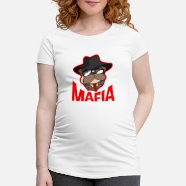 Gangster Mafia gangster pug with cigar gift - Maternity T-Shirt