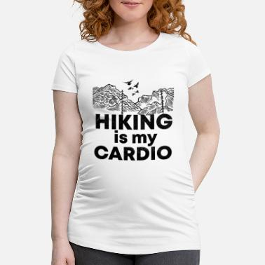 Grill Hiking is my training funny saying shirt - Maternity T-Shirt