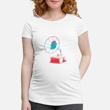 Old School Vinyl turntable shirt - Maternity T-Shirt